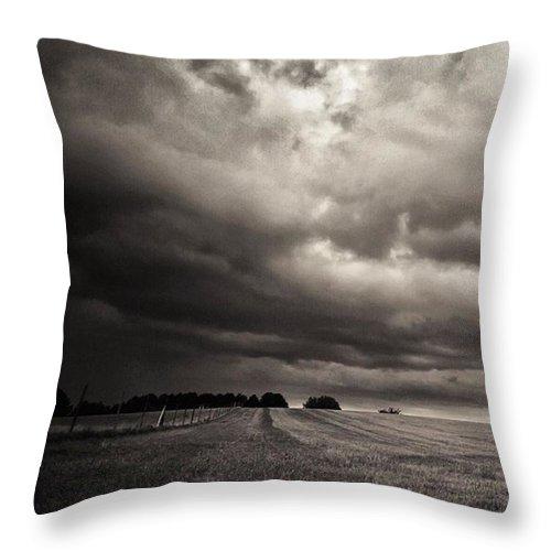 Himmelübermir Throw Pillow featuring the photograph Sonnenwolkendunkel by Mandy Tabatt