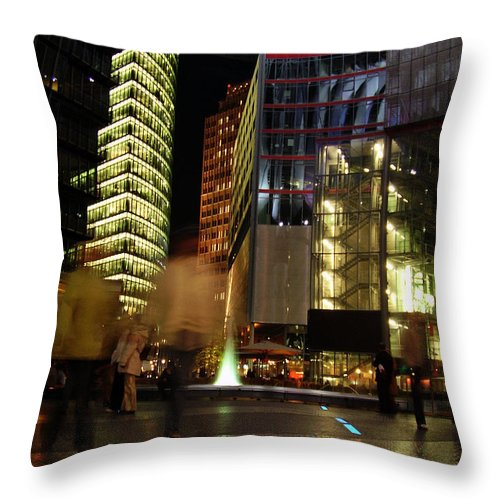 Sony Center Throw Pillow featuring the photograph Sony Center by Flavia Westerwelle