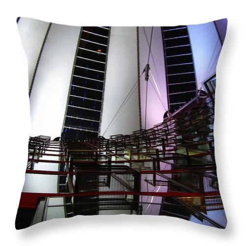 Sony Center Throw Pillow featuring the photograph Sony Center II by Flavia Westerwelle