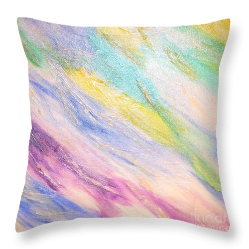 Abstract Throw Pillow featuring the painting Soothing by Lori Jacobus-Crawford