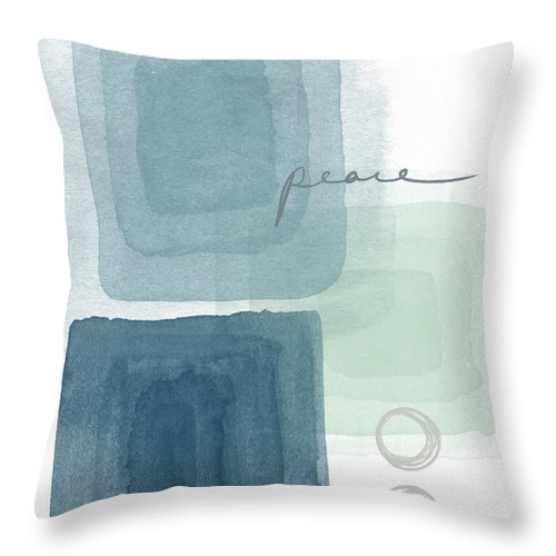 Peace Throw Pillow featuring the mixed media Soothing Peace- Art By Linda Woods by Linda Woods