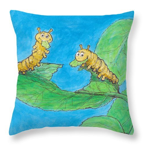 Throw Pillow featuring the painting Sophie 5 by Charles Cater