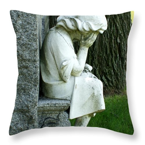 Cemetery Throw Pillow featuring the photograph Sorrow by Valerie Fuqua