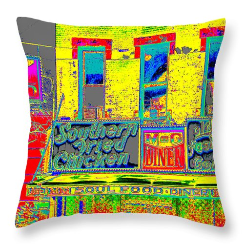 Harlem Throw Pillow featuring the photograph Soul Food by Steven Huszar