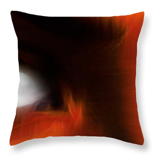 Digital Abstract Art Throw Pillow featuring the digital art Soul Windows I by Kenneth Armand Johnson