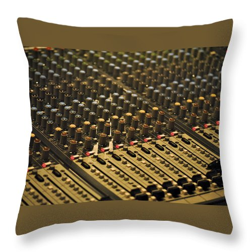 Music Throw Pillow featuring the photograph Soundboard by Kelly E Schultz