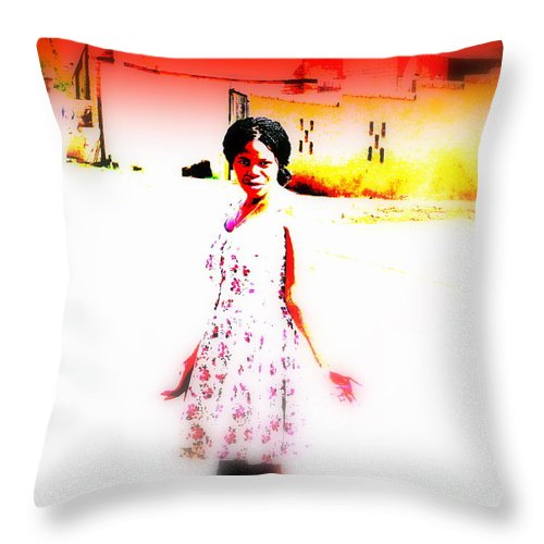 South Africa Throw Pillow featuring the photograph South African by Funkpix Photo Hunter