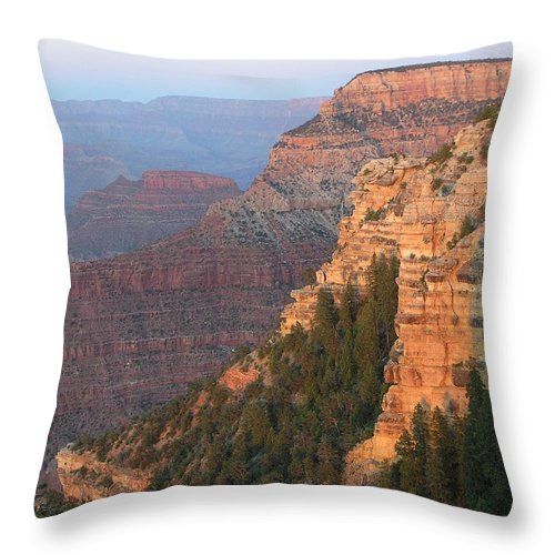 Sunset Throw Pillow featuring the photograph South Rim Sunset by Louise Magno