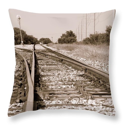 Rail Throw Pillow featuring the photograph Southbound by Elizabeth Hart
