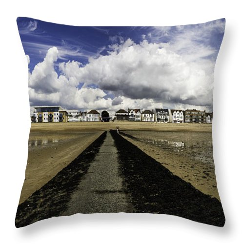 Southend On Sea Throw Pillow featuring the photograph Southend On Sea Panorama by Avalon Fine Art Photography
