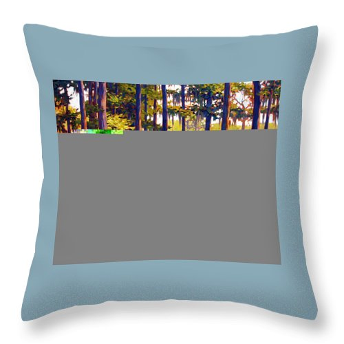 Marshes; Egrets; Low Country; Palmetto Trees Throw Pillow featuring the painting Southern Breeze by Ben Kiger