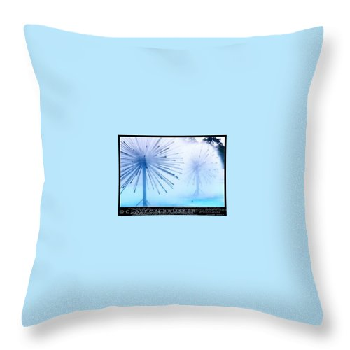 Clay Throw Pillow featuring the photograph Southern California Fountains by Clayton Bruster