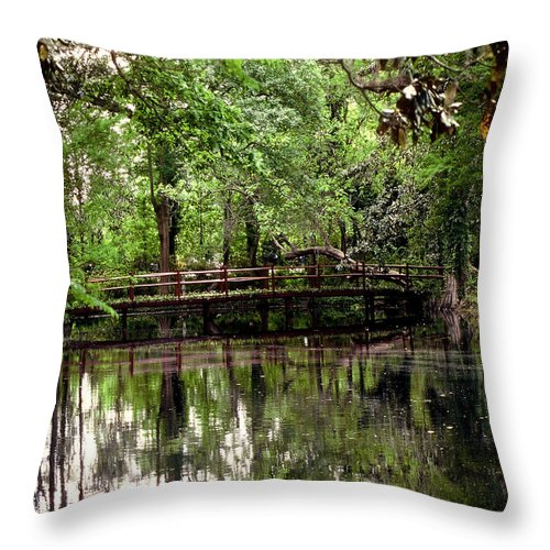 Bridge Throw Pillow featuring the photograph Plantation Living by Gary Wonning