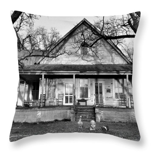 Architectural Throw Pillow featuring the photograph Southern Comfort by Jan Amiss Photography