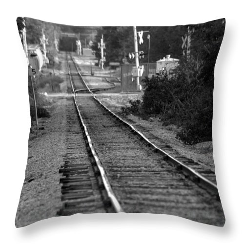 Rail Throw Pillow featuring the photograph Southern Junction by Elizabeth Hart
