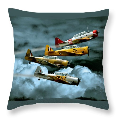 Southern Knights Throw Pillow featuring the photograph Southern Knights by Steven Agius