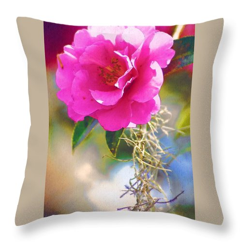 Rose Throw Pillow featuring the digital art Southern Rose by Donna Bentley