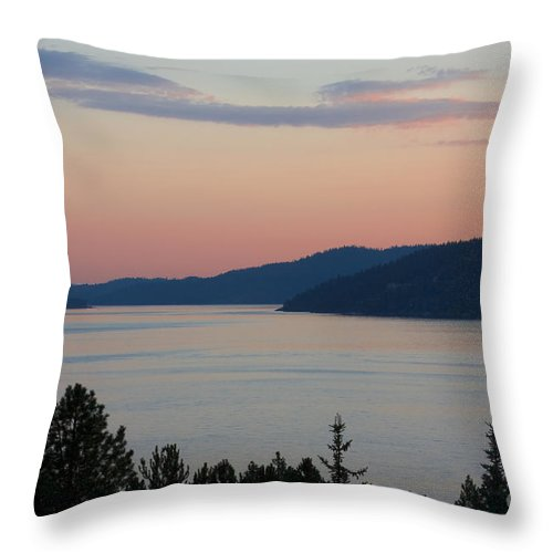 Sunset Throw Pillow featuring the photograph Southern Skies in Pink by Idaho Scenic Images Linda Lantzy
