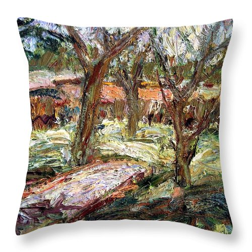 Dornberg Throw Pillow featuring the painting Southern Winter by Bob Dornberg