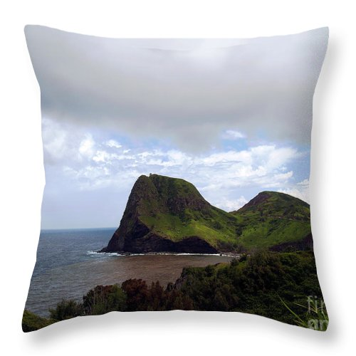 Fine Art Photography Throw Pillow featuring the photograph Southwest Coast Of Maui by Patricia Griffin Brett