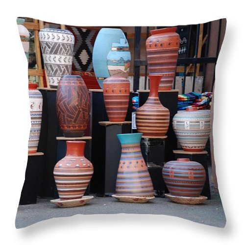 Southwestern Throw Pillow featuring the photograph Southwestern Potery by Rob Hans