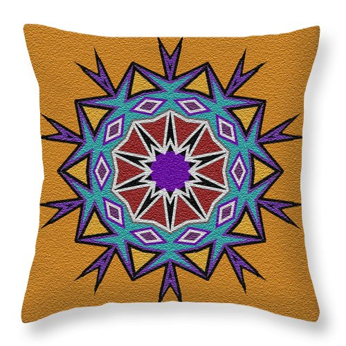 Southwest Throw Pillow featuring the digital art Southwestern Style I by Kenneth Krolikowski