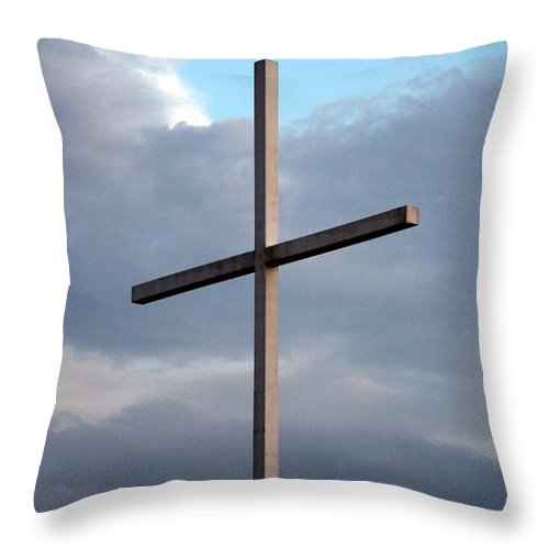 Cross Throw Pillow featuring the photograph Sovereignty by Elizabeth Hart