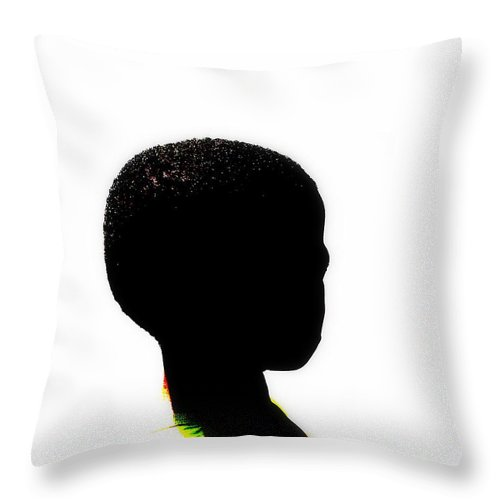 Kid Throw Pillow featuring the photograph Soweto Kid by Funkpix Photo Hunter