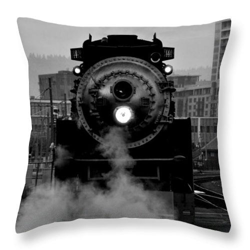 Sp 4449 Throw Pillow featuring the photograph Sp 4449 - Bw by Noah Cole