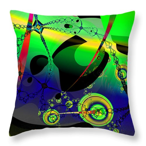 Fractal Throw Pillow featuring the digital art Space Carnival by Frederic Durville