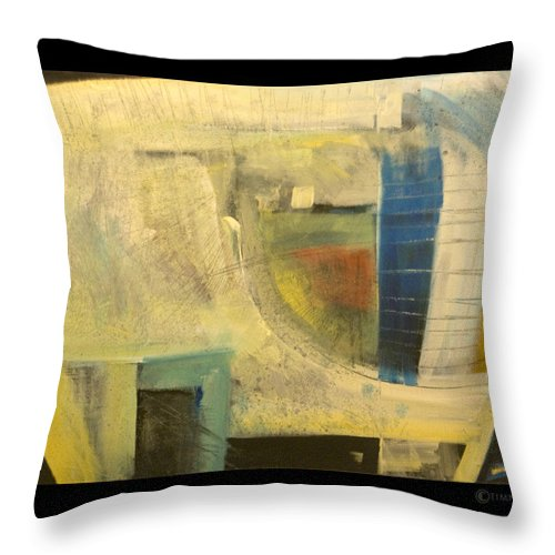 Dog Throw Pillow featuring the painting Space Dog by Tim Nyberg