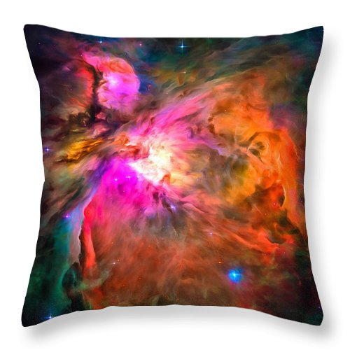 Orion Nebula Throw Pillow featuring the photograph Space Image Orion Nebula by Matthias Hauser