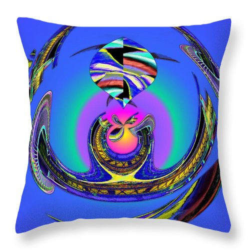 Seattle Throw Pillow featuring the digital art Space Needle And The Experience Music Project Two by Tim Allen