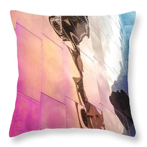 Space Needle Throw Pillow featuring the photograph Space Needle Reflection by Kevin Whitworth