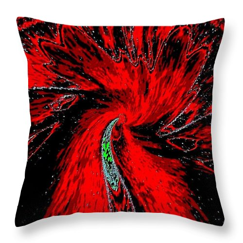Abstract Throw Pillow featuring the digital art Space Poppy by Will Borden