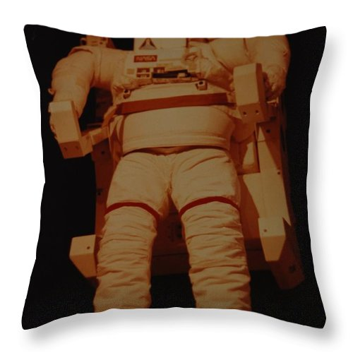 Nasa Throw Pillow featuring the photograph Space Suit by Rob Hans