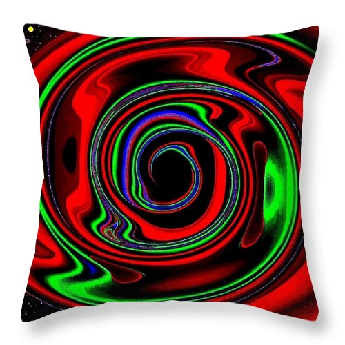 Abstract Throw Pillow featuring the digital art Space Twister by Will Borden