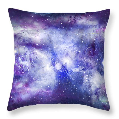 Abstract Throw Pillow featuring the digital art Space009 by Svetlana Sewell