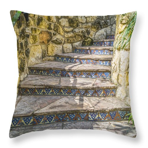 Stairs Throw Pillow featuring the photograph Spanish Steps by Craig David Morrison
