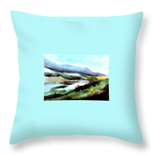 Digital Art Throw Pillow featuring the painting Sparkling by Anil Nene
