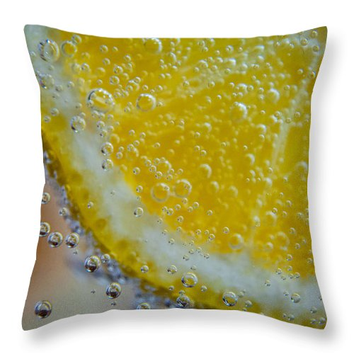 7up Throw Pillow featuring the photograph Sparkling Lemonade 1 by Angelle Holmes