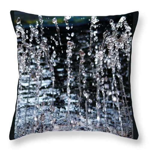 Water Fountain Throw Pillow featuring the photograph Sparkling Water by D Nigon
