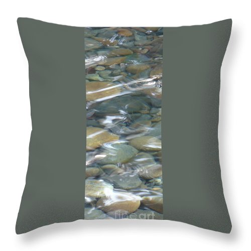 Sparkling Water Throw Pillow featuring the photograph Sparkling Water On Rocky Creek 1 by Carol Groenen