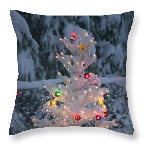 Christmas Throw Pillow featuring the photograph Sparkly Tree by Jim And Emily Bush
