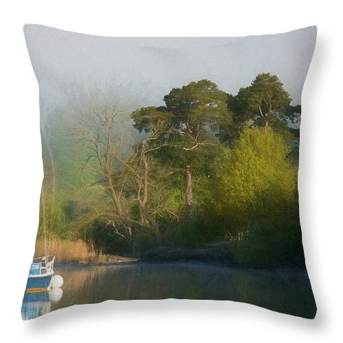 Yacht Throw Pillow featuring the photograph Spartan The Yacht by Susan Tinsley