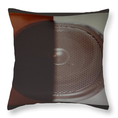 Abstract Throw Pillow featuring the photograph Speaker by Rob Hans