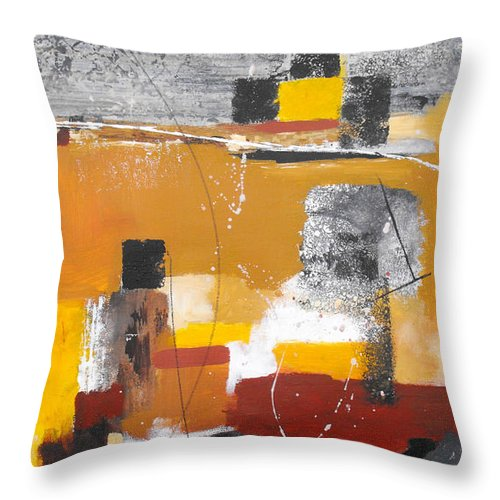 Abstract Throw Pillow featuring the painting Special Circumstances II by Ruth Palmer