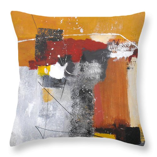 Abstract Throw Pillow featuring the painting Special Circumstances by Ruth Palmer