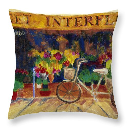 Impressionism Throw Pillow featuring the painting Special Delivery by Tara Moorman