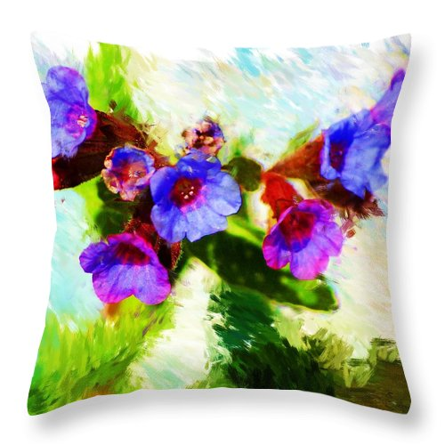 Abstract Throw Pillow featuring the photograph Speckled Trout The Flower by David Lane
